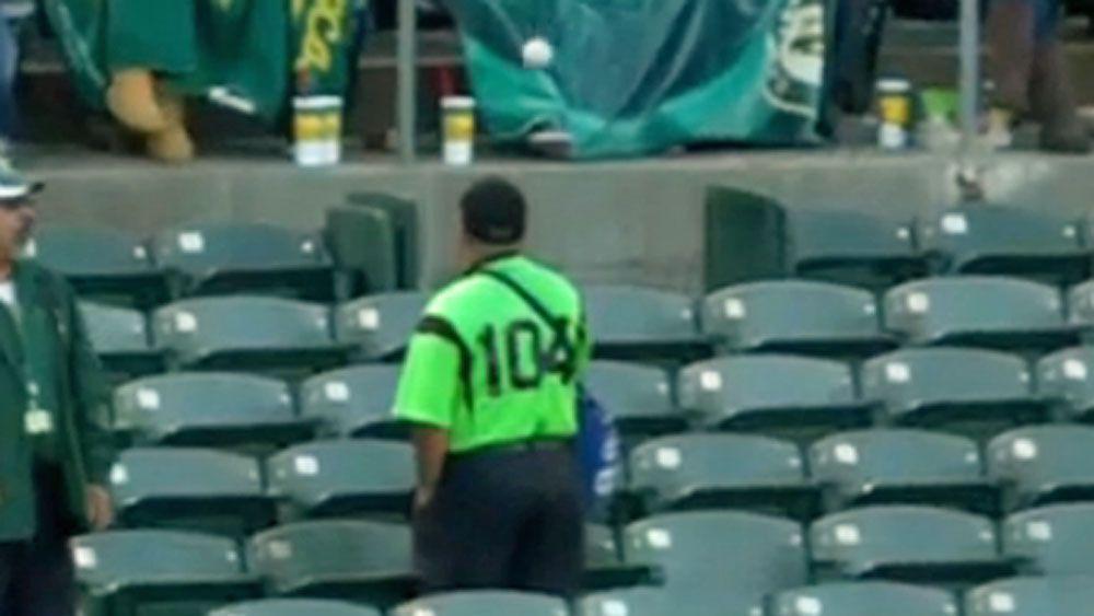 Baseball: Vendor taught cheeky lesson in MLB