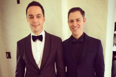 <i>Big Bang Theory</i>'s leading man brought his own leading man, fianc&#233; and art director Todd Spiewak, as his date. Jim won his fourth gong for Best Lead Actor in a Comedy.