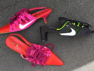 Kitten heel Nikes