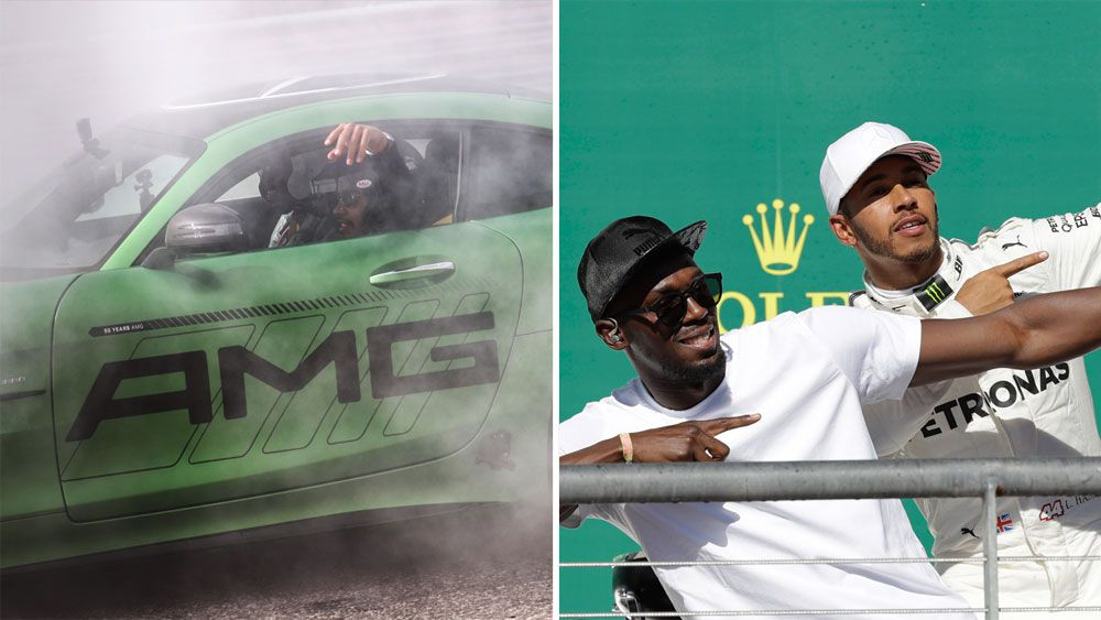 "Former sprint king Usain Bolt thought he was ""going to die"" after joyride with Lewis Hamilton at US Grand Prix"