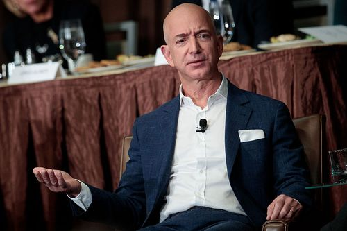 Bezos has seen the size of his wallet increase thanks to a boost in Amazon's stock price. Picture: AAP