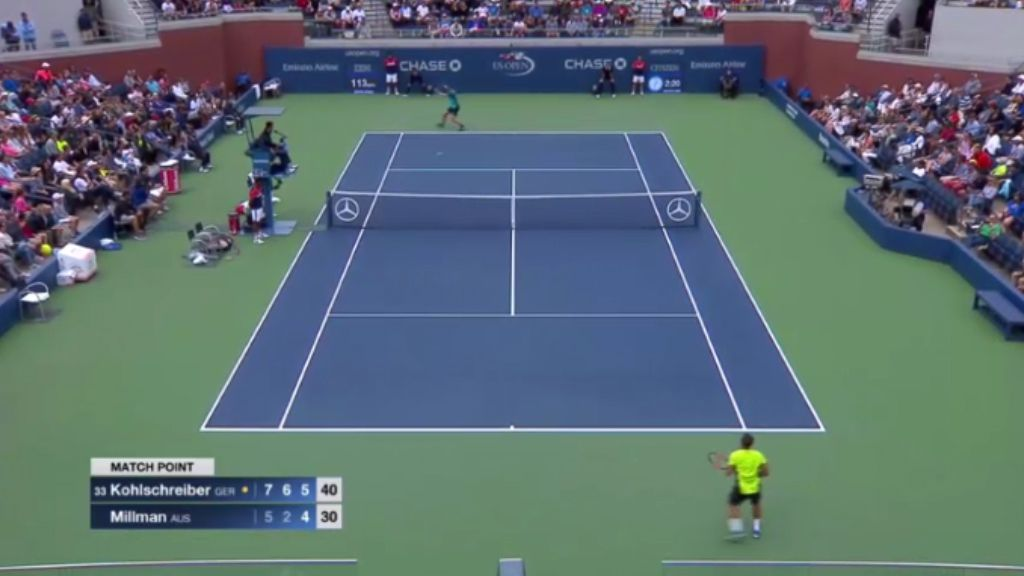Millman knocked out of US Open