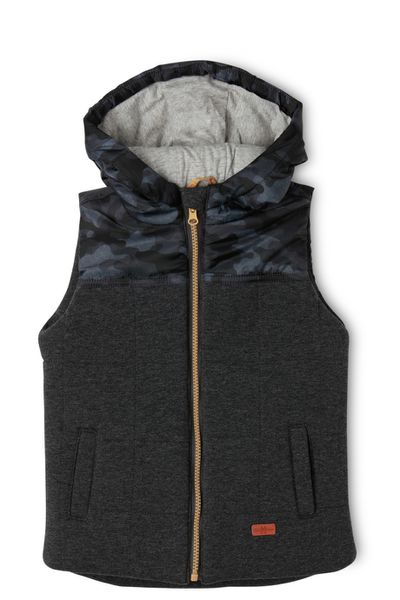 "<a href=""https://www.myer.com.au/shop/mystore/kids-toys/little-boys-coats-jackets/print-puffer-vest-with-hood-480935260"" target=""_blank"">Milkshake Boys Woodlands Hooded Puffer Vest, $39.95.</a>"