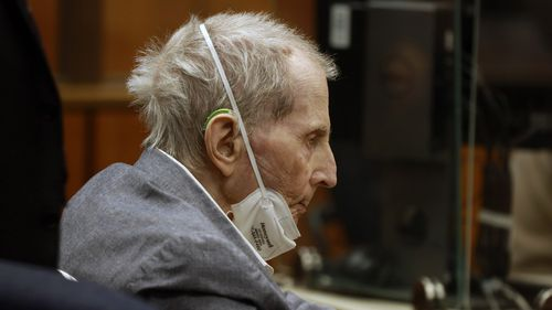 Robert Durst appeared in a courtroom with his attorneys for closing arguments.