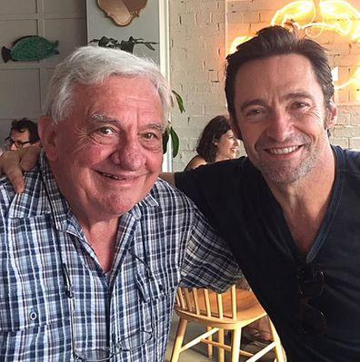 Hugh Jackman with his dad Christopher.