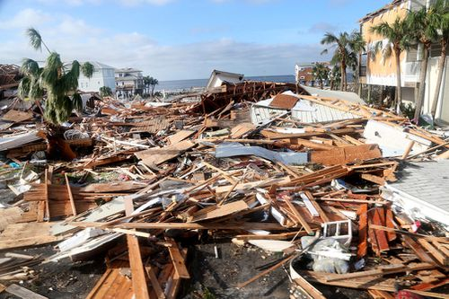 Hurricane Michael has slammed into the Florida Panhandle with terrifying winds of 250km/h, splintering homes and submerging neighbourhoods.