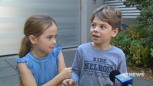 Chloe and Archer Keen were forced to flee their grandparents' home. (9NEWS)