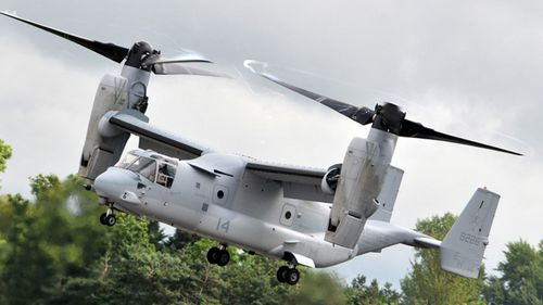 This file photo shows a MV-22, similar to what crashed off the coast of Queensland. (File)