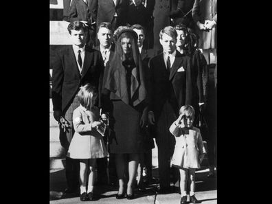 The most poignant moment of the JFK funeral as three-year-old John Kennedy Jnr. stands at salute.