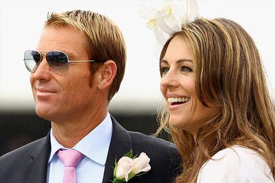 """Meanwhile, it's been five months since Warnie confirmed his split to 49-year-old ex-fianc&#233; <b>Liz Hurley</b>.<br/><br/>Telling the <i>TODAY</i> show at the time that """"it's a shame it's all over."""" Scroll through to watch the interview…<br/>"""
