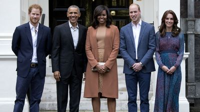 The Obamas, Prince Harry, and the Duke and Duchess of Cambridge