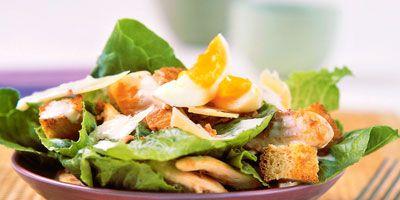 Roast chicken caesar salad