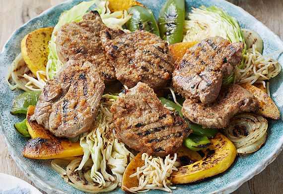 Adam Liaw's hokkaido barbecue lamb leg steak
