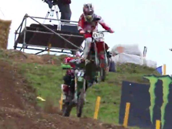 Motocross rider hurt in freak crash