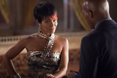 Created especially for the <i>Gotham</i> series, Fish Mooney (played by Jada Pinkett Smith) is a redheaded underground mobster of Gotham's Theatre District and mentor to the Penguin.<br/><br/>She's also in cahoots with Detective Gordon's questionably crooked partner Detective Harvey Bullock (Donal Logue).