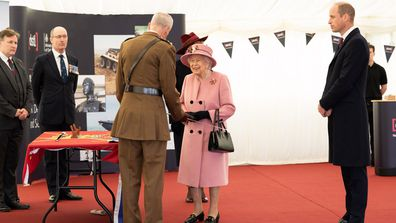 Queen Elizabeth and Prince William at Defence Science and Technology Laboratory (Dstl) in Porton Down, UK