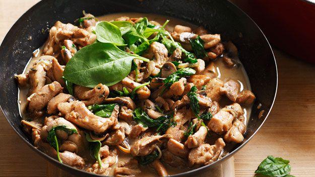 Buttermilk mushroom chicken
