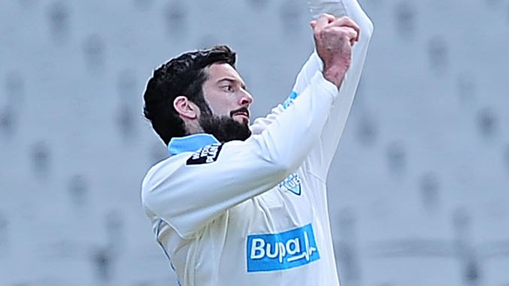 NSW off-spinner Will Somerville has put the Blues in a good position against Queensland after taking 6-108. (Getty)