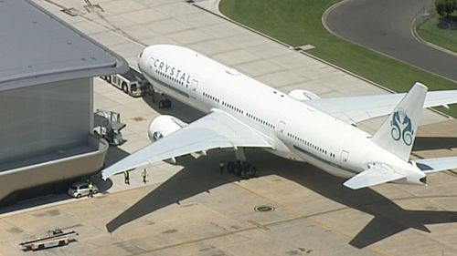 The jet landed in Melbourne this afternoon.