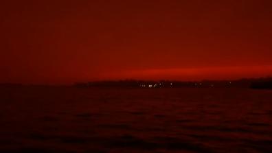 Bushfire skies dawn over eastern Victoria.