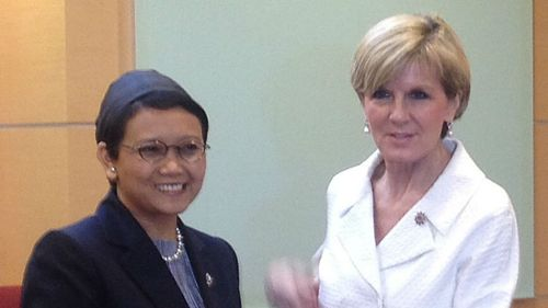 Julie Bishop and Indonesian foreign minister Retno on 'dear' terms again