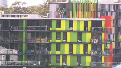 The alleged behaviour took place just days after the athletes moved into the Athletes Village on the Gold Coast, according to claims published on social media.