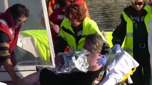 A kayaker was rescued from Rapid Bay after becoming stranded.