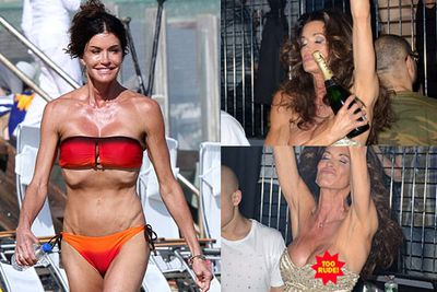 The 56-year-old former supermodel says she has 'no regrets' about her plastic surgery. She might regret these pictures, though.