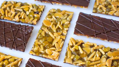 "Recipe: <a href=""http://kitchen.nine.com.au/2017/08/11/11/32/chocolate-orange-and-cumin-florentine"" target=""_top"">Chocolate florentine</a>"