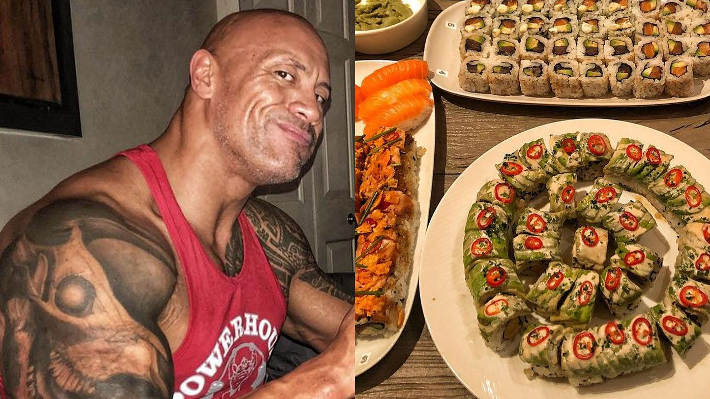 Dwayne Johnson Shares His Sushi Cheat Meal On Instagram 9coach