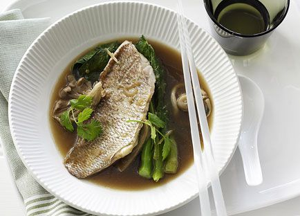 Asian-style snapper broth