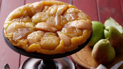 "Recipe: <a href=""http://kitchen.nine.com.au/2016/05/16/16/05/apple-and-pear-tarte-tatin"" target=""_top"">Apple and pear tarte tatin</a>"