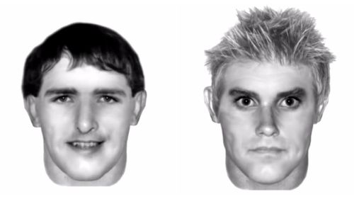 Police released these images of two men they wished to speak to over the attack. (Queensland Police)