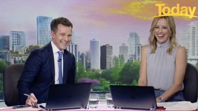 David Campbell and Ally Langdon were left in stitches over the kids' antics.