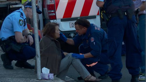 The boys, 12 and 16, allegedly grabbed her bag from behind, pulling her to the ground. Picture: 9NEWS