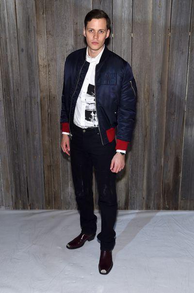 <em>IT </em>star Bill Skarsgard at Calvin Klein A/W '18 in New York City