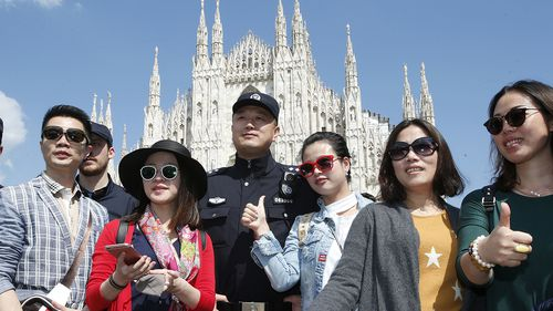 Chinese police to patrol Italy's top tourist sights