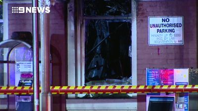Arsonist targets Perth train station