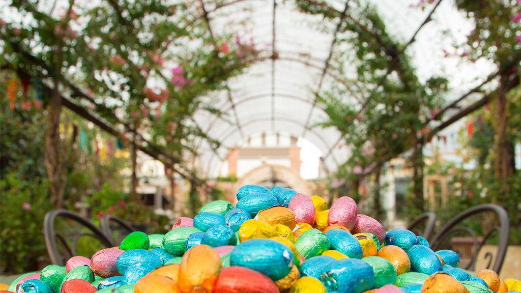 Easter eggs ready for the big hunt at The Grounds, Alexandria in Sydney
