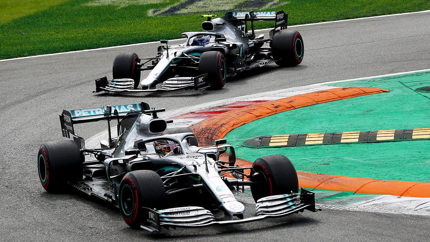 Mercedes teammates Lewis Hamilton and Valtteri Bottas.