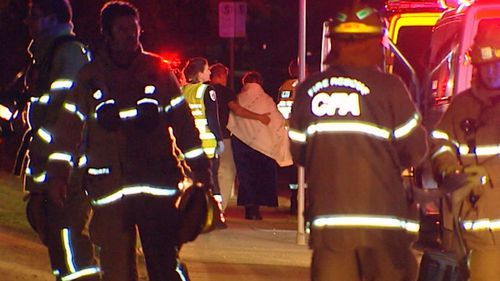 The fire unfolded about 11pm on Seaview Road in Frankston. (9NEWS)