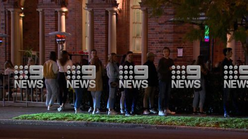 Police have confirmed they are investigating after revellers were filmed appearing to break COVID-19 rules by lining-up outside a Sydney hotel.
