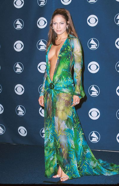 Jennifer Lopez's iconic Versace gown at the 42nd Grammy Awards in 2000