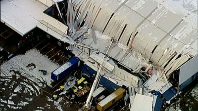 It is believed nobody was injured in the collapse. (9NEWS)