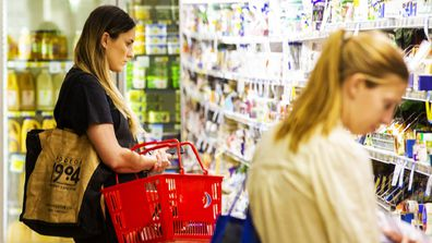 Majority of those surveyed reported no difference in how much they spent at the supermarket.