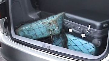 The parcels of heroin found in the back of the rented Toyota Tarago.