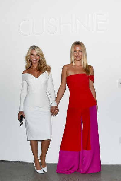 Christie Brinkley and Sailor Brinkley Cook at the Cushnie show during New York Fashion Week, September 7, 2018