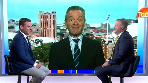 "An embarrassed Christopher Pyne called NZ Prime Minister Jacinda Ardern ""Jessica"" on the Today Show this morning. (TODAY)"