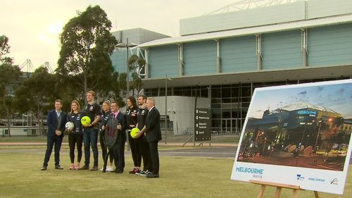 Melbourne Arena's name will stay put for five years. Picture: 9NEWS