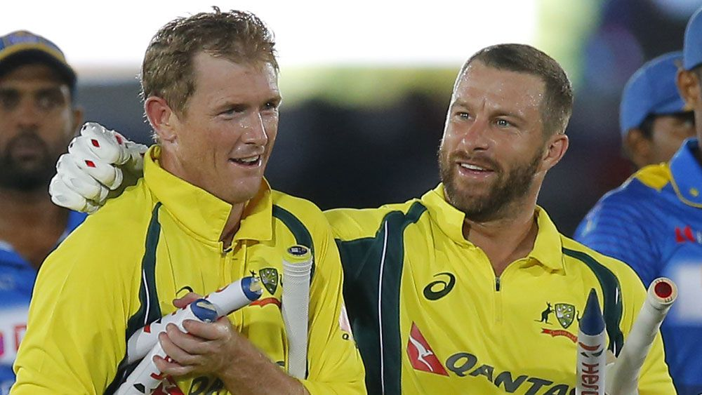 George Bailey (l) and Matthew Wade. (AAP)